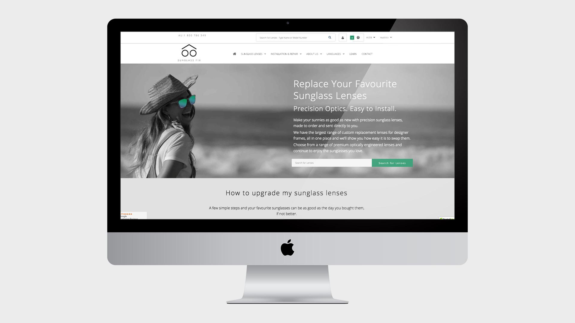 Sunglass Fix Website Design