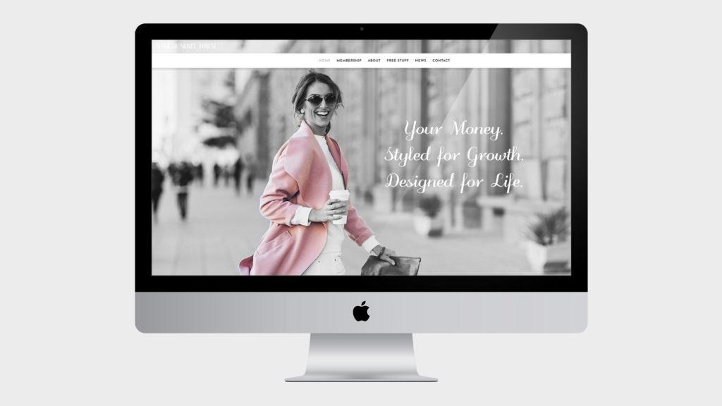 Womens Money Forum Web design